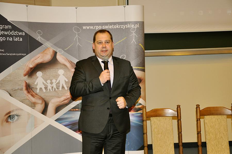 Otwarcie Spotkania przez Członka Zarządu Województwa Świętokrzyskiego Marka Szczepanika